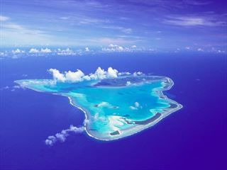 Aerial view of Aitutaki