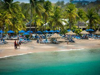 Beachfront view at Smugglers Cove Resort & Spa