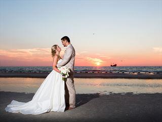 Stunning Clearwater sunset wedding