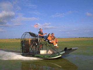Air boat ride on the Everglades