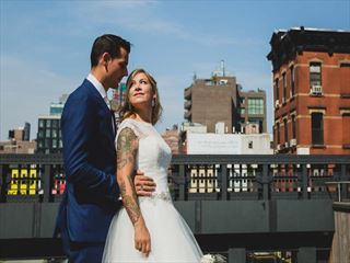 Bride & Groom at the New York High Line
