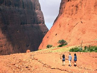 Hiking in Kata Tjuta National Park