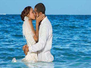Wedding couple at Now Garden Punta Cana