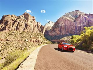 Road trip through Zion National Park