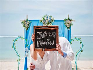 Just married at the Samabe Bali Resort & Villas
