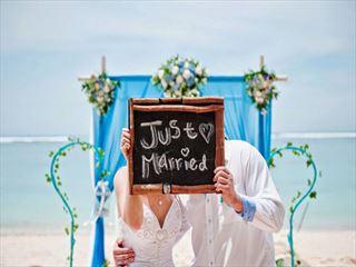 Just married at the Samabe Bali Resort & Villas