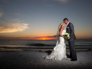 Beautiful sunset wedding at the Sheraton Sand Key Resort