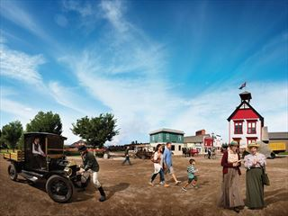 Summer day at Heritage Park, Calgary