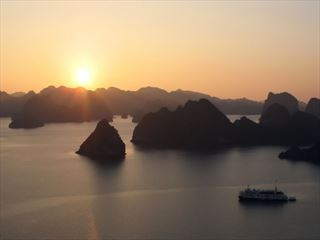 Sunset over Ha Long Bay,Vietnam