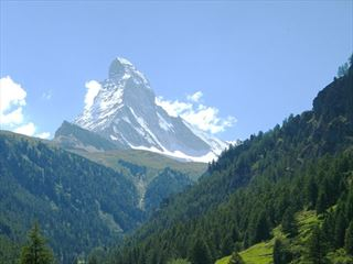 The Matterhorn above Zermatt Switzerland