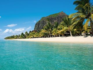 The beach at LUX* Le Morne
