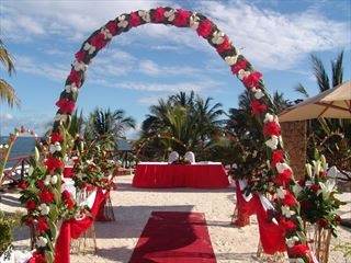 Beautuful & colourful weddings at Voyager Beach Resort