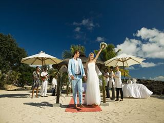 Wedding celebrations at the beach gazebo