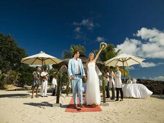 Wedding celebrations at the beach gazebo