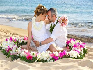 Beach wedding on Maui