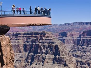 Experience the views from the Grand Canyon Skywalk