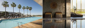 Outdoor pool and indoor spa pool at Anantara Vilamoura Algarve Resort