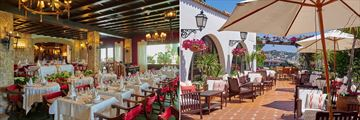 The restaurant and bar at Bonsol Hotel