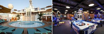 Carnival Sunshine Serenity Pool and Warehouse Games Room