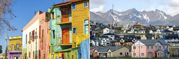 Contrasts of colour in Buenos Aires and Ushuaia