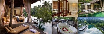 Komoneka at Bisma; One Bedroom Pool Villa, Balcony Terrace, one Bedroom Pool Villa, Main Pool, bathroom.