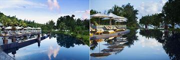 The pool at Raffles Seychelles