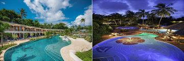 The pools at Sandals Halcyon Beach