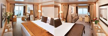 Ocean View Staterooms and Veranda Suites on board the Seabourn Odyssey