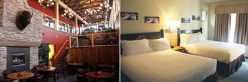 Lounge and Guestroom, Waterton Lakes Lodge Resort