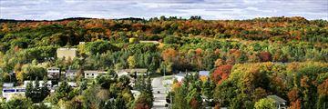 Aerial view of Huntsville, Muskoka
