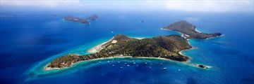 Aerial View of Cooper Island, British Virgin Islands