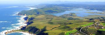 Aerial view of the Knysna Garden Route