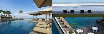 Main Pool, Infinity Pool and Beach Bar Pool at Alila Seminyak