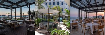 The Dining Room Terrace, the Lobby Bar Garden and Ristorante Locatelli at Amara
