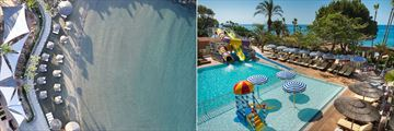 Family beach and pool at Amathus Beach Hotel