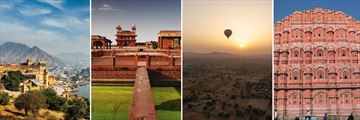 Amber Fort, Fatehpur Sikri, Hot air balloon over Jaipur & Palace of The Winds