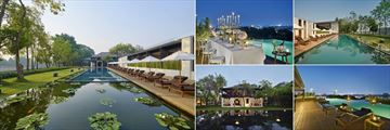 Anantara Chiang Mai Resort, Pool and Lotus Pond, Gala Dinner, Infinity Pools and Colonial House