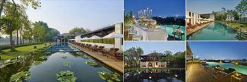 Anantara Chiang Mai Resort, Pool and Lotus Pond, Gala Dinner, Infinity Pools and Colonial House