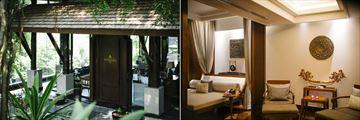 Anantara Layan Phuket Resort, Spa Lobby Entrance and Spa Relaxation Room