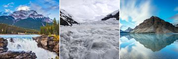 Athabasca Mountains, Columbia Icefield & Bow Lake
