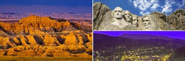 Badlands National Park, Mount Rushmore and Deadwood
