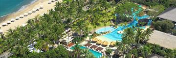 An aerial view of Bali Mandira