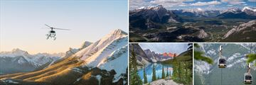 Banff Helicopter Tour, Aerial View, Lake Scenery & Gondolas