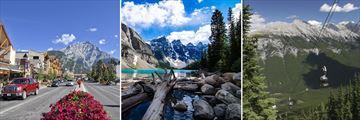 Banff Town, Moraine Lake & Sulphur Mountain Gondolas