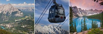 Banff Town, Sulphur Mountain Gondola & Lake Moraine