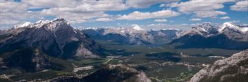 View of Banff National Park from the Sulphur Mountains