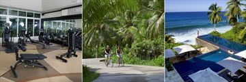 Banyan Tree, Seychelles, Gym, Cycling and Main Pool