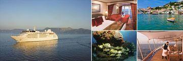 Silversea Ship, Silverwind Verandah Suite, St Georges Grenada,  Silverwind La Terrazza, Aruba Sealife