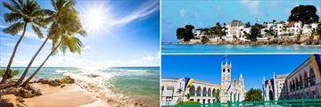 Barbados; West coast Beach, Caribbean Houses on the coast, Bridgetown