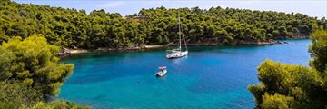 Hidden bay along the Sithonia Peninsula, Halkidiki